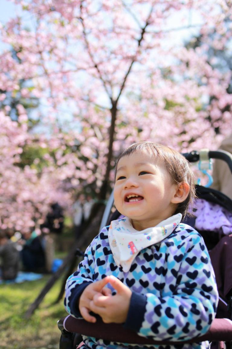 櫻花下的笑容