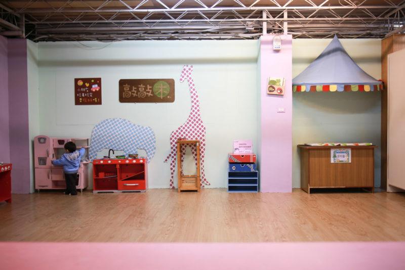 讓小平安包場的兒童遊戲區